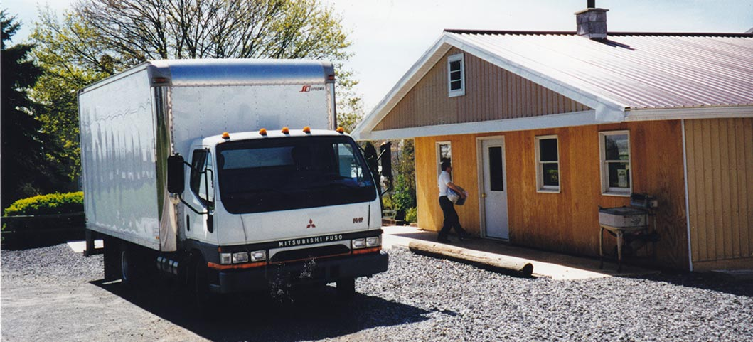 A delivery being made to Nine Point Sales & Service, 2002
