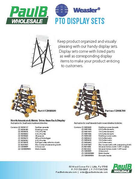 Weasler PTO Display Sets PDF Thumbnail