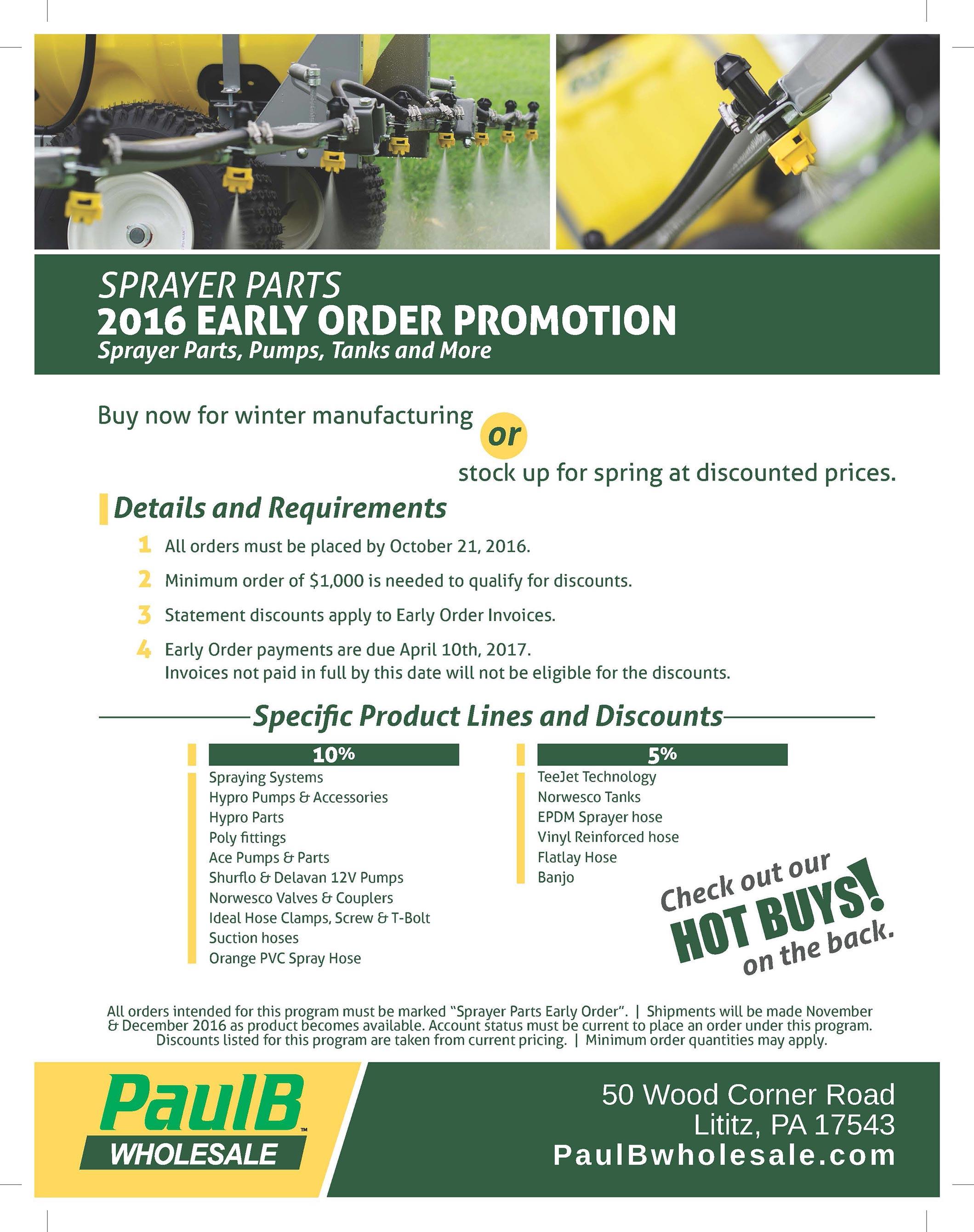 Sprayer Parts 2016 Early Order PDF Thumbnail