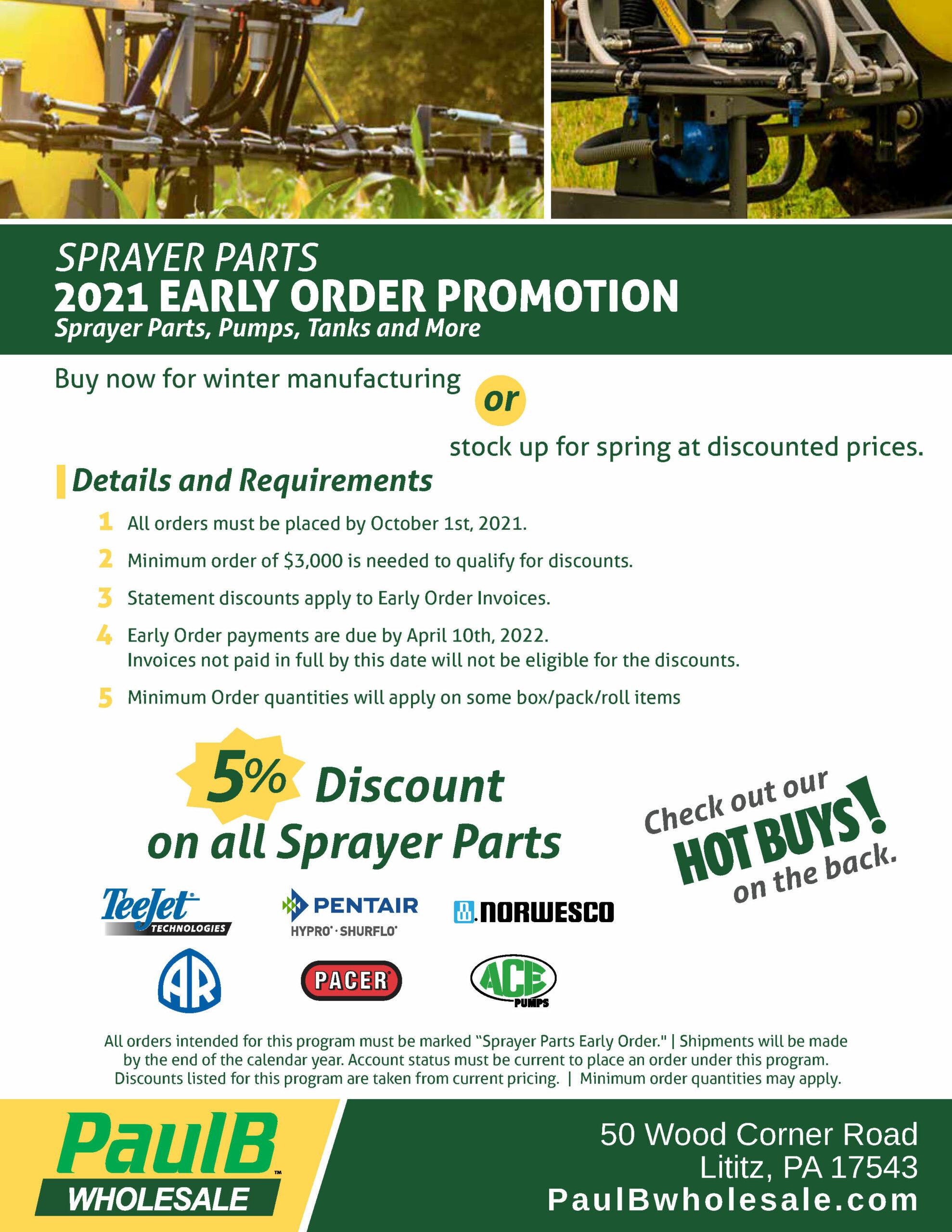 Sprayer Parts Early Order Promo PDF Thumbnail