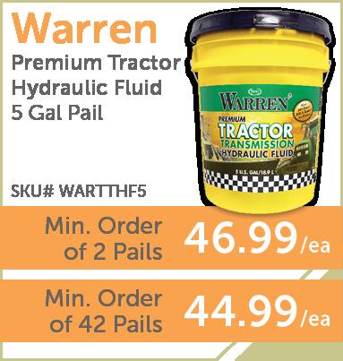 PaulB Wholesale - Warren Premium Tractor Hydraulic Fluid 5 Gal. Pail